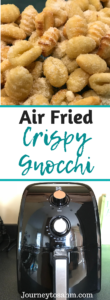 Air Fried Crispy Gnocchi recipes. Enjoy tihs delicious gnocchi cooked in an air fryer. Make healthy gnocchi with a 20 minute meal. Easy gnocchi for family dinners and weeknight dinners. #recipes #food #airfryer #airfried #cooking #delicious