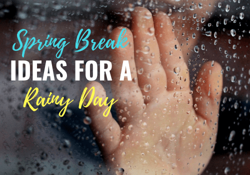 Fun indoor activities and ideas for kids at home. Make the most of the cold, rainy days on spring break and find simple things to do as indoor recess! #toddleractivities #kidactivities #rainydays #preschoolactivities #preschoolers