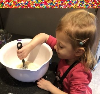 Make baking fun again! Baking doesn't need to be a chore. Grab your toddler, put on your matching aprons, and make it a special bonding moment. The laughs are irreplaceable. #momlife #parenting #delicious