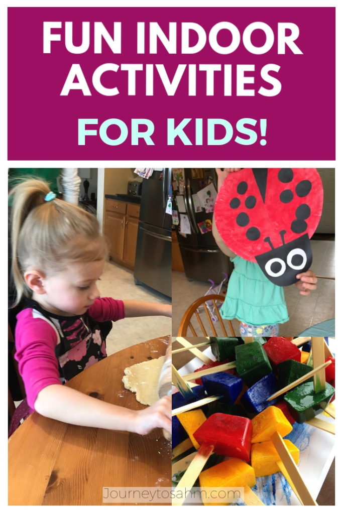 Fun games and inside activities for kids as young as 2 year olds. Awesome easy games for kids and play ideas for families at home or at preschool. #gamesforkids #activitiesforkids #activitiesforpreschoolers #toddleractivity #easytoddleractivity