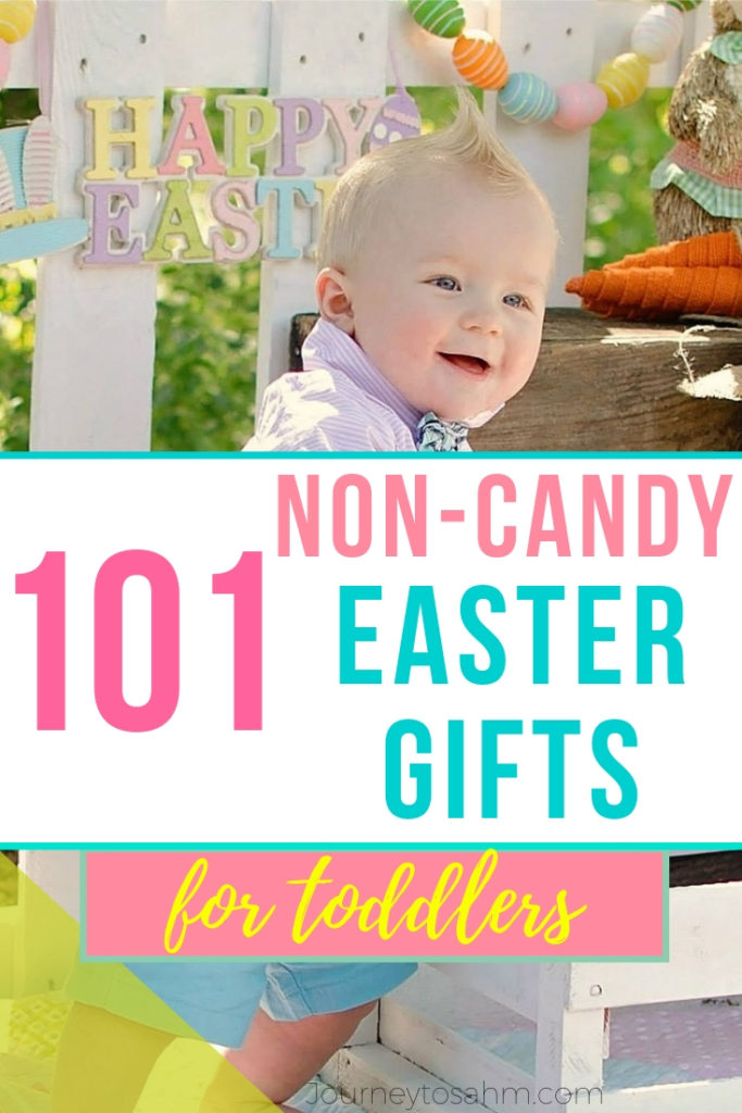 101 unique and creative non candy Easter gifts for toddlers! Easy last minute Easter basket finds filled with educational toys, inspiration, and fun treats to get your holiday ready for the kids! #easter #eastergift #giftsforkids #toddlertoys #easterideas