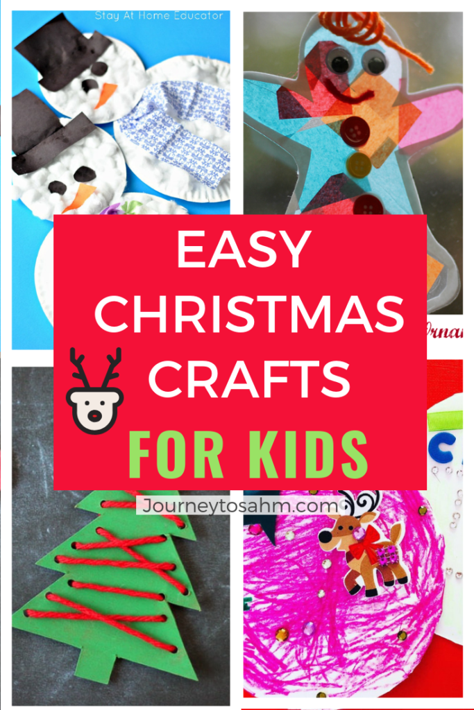 Low prep DIY Christmas crafts for kids to make with their families. Includes handmade ornaments, a snowman, with handprints, and more. Santa craft includes a free printable for kid friendly advent calendar. #holidays #holidaycrafts #kidsactivities #kidscrafts #craftsforkids #craftideas