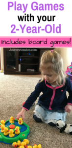Play games with your 2 year old! This list includes great board games for toddlers that will grow with your child. Play games with kids indoors and watch them learn in front of your eyes. 2 year old activities perfect for any time of year. #toddler #activities #parenting