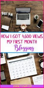 New blogger tips and tricks. Learn how I got 4,600 my first month blogging and how you can too. Increase views and where to focus on as a beginner blogger. #blogging #newblogger #life