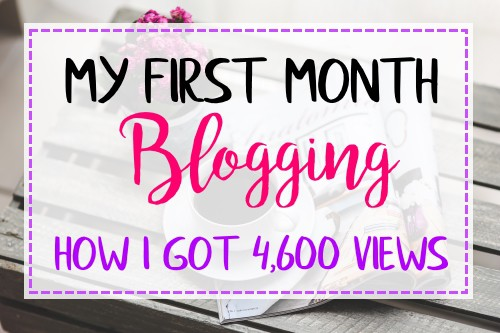 How I got 4,600 Views in my First Month as a New Blogger
