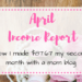 How I monetized my mom blog in just 2 months. April Blog Income report. How I made $87.67 as a new blogger. Includes tips and tricks how to make money with a mom blog with influencer and affiliate programs. #blogger #momblog #makemoney