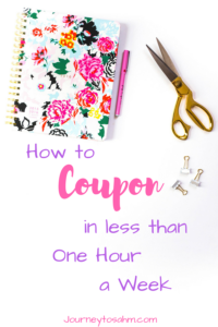 Couponing 101: Beginner Couponing Secrets in Less Time. Couponing for beginners. Includes a guide for coupon organization and how to coupon in less than one hour a week! Learn the basics of couponing with this tips and tricks to get you started! #save #money #couponing #momlife #saving