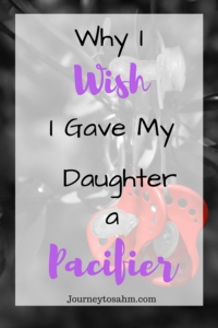 Why I wish I gave my daughter a pacifier. Is pacifier weaning easier than stopping finger sucking? My child is a finger sucker. Here's what she does as a sucking habit. #momlife #toddlers #parenting