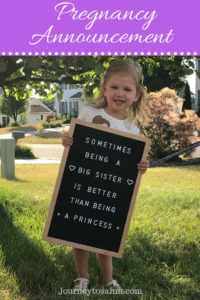 We're pregnant! This exciting article includes a pregnancy announcement to my husband and a pregnancy announcement photo including her soon to be big sister. This includes two great social media pregnancy announcement ideas. I also go into the tips and tricks to conceive and what ovulation kit worked our first month! #pregnancy #parenting #maternity #familygoals