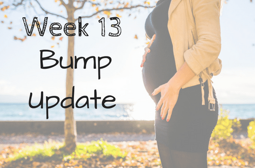 Bump progression pics! Here is my week 13 bump update with my weekly bump pictures. Stay up to date on my pregnancy, pregnancy photos, fit pregnancy, and more every week! #pregnancy #pregnancyproblems #momlife