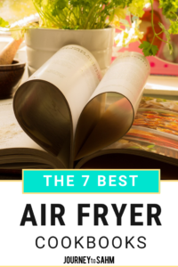 A list of the 7 best air fryer cookbooks. Use your air fryer machine to cook delicious healthy recipes. These are simple dinner recipes for the entire family or even just dinner for two. Make wings, donuts, chicken, french fries, and more HEALTHY! It's a perfect Christmas gift for cooks, cooking lovers, or even just lazy cooks. Includes vegetarian recipe options, vegan, vegetables, potatoes, dessert, and the list can go on and on. #healthyrecipes #recipe #cooking #foodie #healthyeating