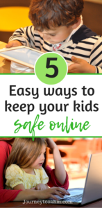 Parenting can be tough when it comes to technology. Here are 5 easy ways to keep your kids safe online. Includes a free app that allows your toddler to stay safe online and a giveaway!#sponsored #giveaway #parenting #momlife #toddlermom #kids