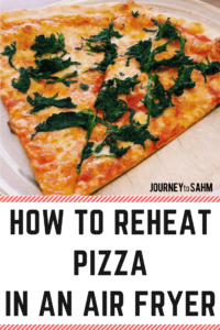 Keep your pizza crispy and fresh by reheating it in your air fryer. Enjoy your pizza crust the way it's supposed to be. Heats up quickly to create ooey gooey cheesy pizza. #foodblogger #food #dinner