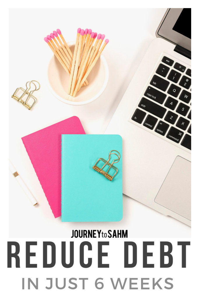 Learn tips on how to reduce debt quickly in just 6 weeks using the Heart of Your Money e-course. Control your personal finances and life by using simple techniques tailored to your family. #budget #savemoney #savings