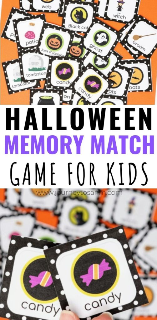 Halloween Memory Match Game for Kids