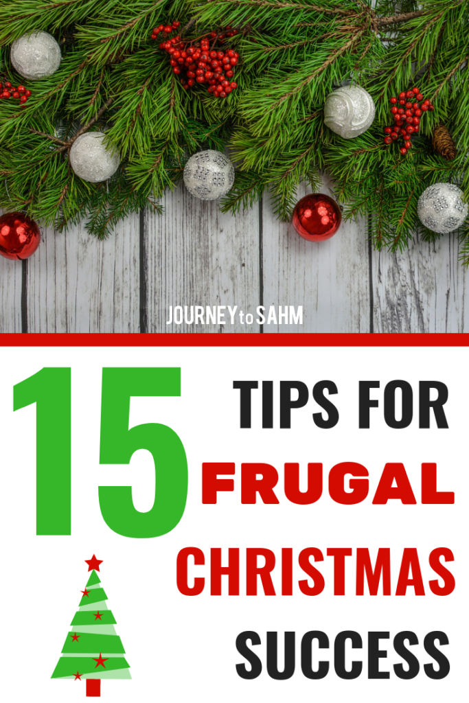 15 tips for frugal Christmas success. Keep frugal living throughout the holidays to put extra cash in your wallet. The best shopping tips to save money on Christmas gifts and stocking stuffers. Ideas to stay budget and still have a fun Christmas with your families. #christmas #frugal #savings #moneysavingtips #budgeting