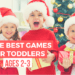 The best easy toddler games this Christmas with board games. Use these kid activities and games to keep the kids entertained indoors all day and get your Black Friday shopping done early. A list of the best games for kids and preschoolers to help educatate and increase learning at home. #holidaygifts #giftguide #giftideas #christmasgifts #kidactivities
