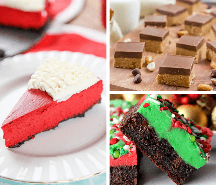 55 Christmas treats and desserts when you're sick of Christmas cookies. Easy dessert recipe ideas perfect for the holiday. Homemade, but easy to make to impress the family holidays. Includes creative Christmas desserts for your best holiday season yet. #holidaybaking #holidayrecipes #christmas #baking #desserts