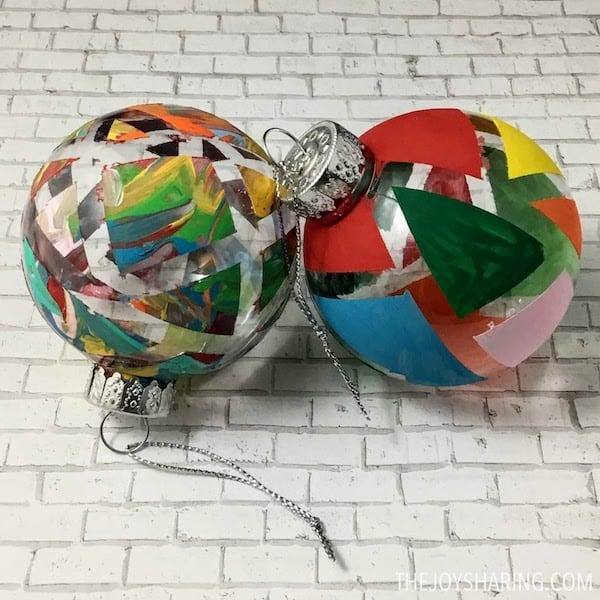Ornament Christmas Art for Toddlers