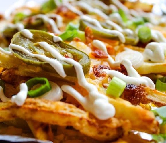 Air Fryer Loaded Bacon Cheese Fries