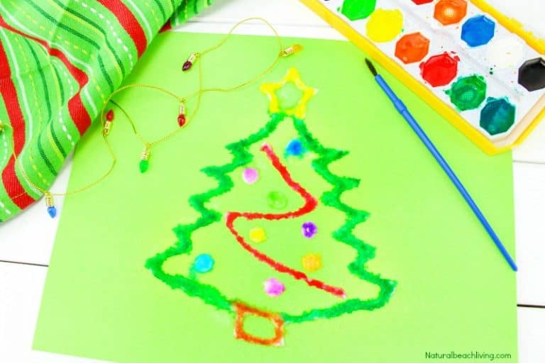 Salt Christmas Craft for Toddlers