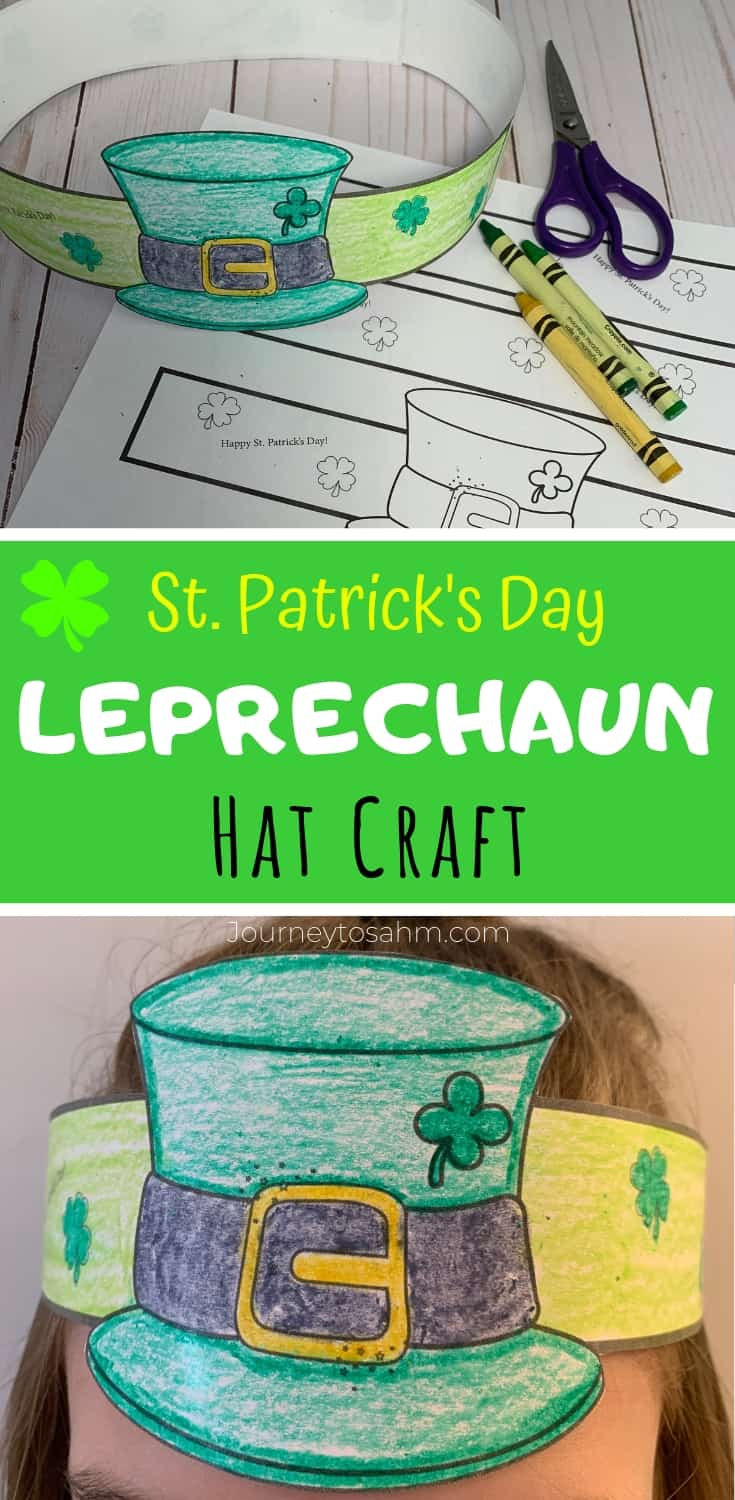 Simple St Patrick S Day Leprechaun Hat Coloring Craft