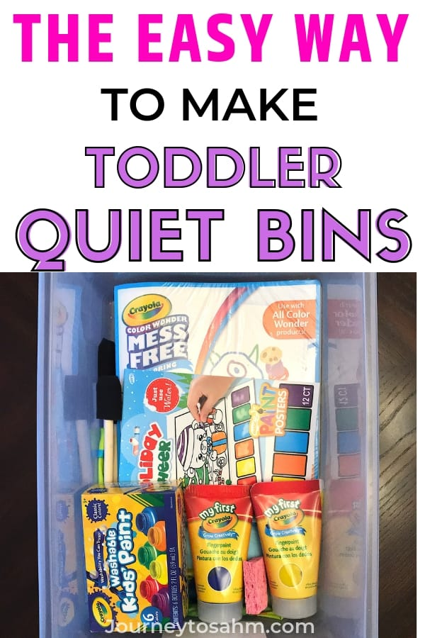Learn how to make easy quiet bins toddlers will love. Teach your 2 year old how to do independent play by using bins with pipe cleaners, popsicle sticks, and other dollar store items. Examples included! #naptime #learningactivities #activitiesforkids #kidactivities #preschoolactivities