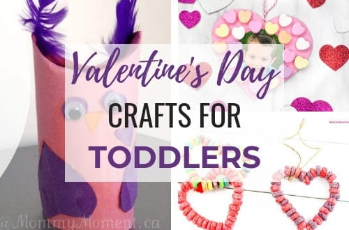 Easy Valentine's Day crafts for toddlers and preschoolers. Use simple supplies such as paper, feathers, conversation hearts, and paint to have a fun DIY day with the kids! #craftsforkids #craftsfortoddlers #valentinecrafts #toddleractivities #toddlercrafts