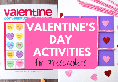 Fun Valentine's Day activities for preschoolers. Valentines games with hearts, numbers, and minute to win it. Cute ideas for elementary school, preschool, and toddlers this holiday! #valentinesdayactivities #valentinesdayideas #activitiesforkids #preschoolactivities #toddleractivity