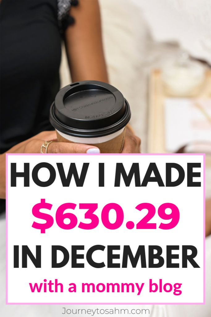 December Blog Income Report - 2018 - Ending the Year with $630 29