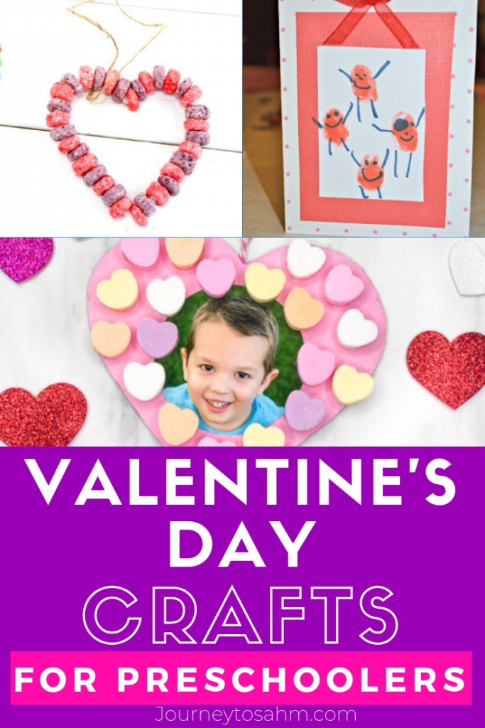 Fun Valentine's Day crafts for preschool kids. Make hearts, finger painting, keepsakes, and bird feeders for a creative time. East to make at home, in the classroom, or even Sunday school! #valentinesdaycraft #craftsforkidstomake #craftsforpreschoolers #preschoolcrafts #preschoolers