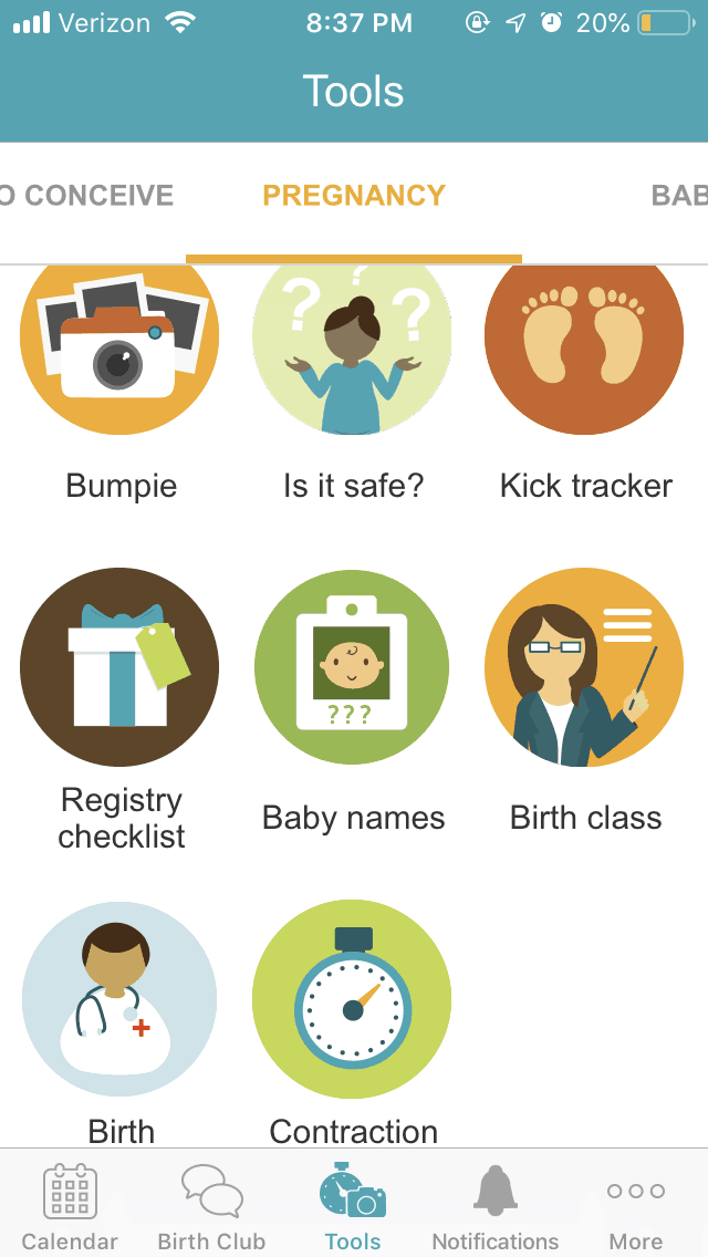 2019 free pregnancy apps on your smartphone to track your baby's growth until your newborn is in your arms. #newbaby #momtobe #newmom
