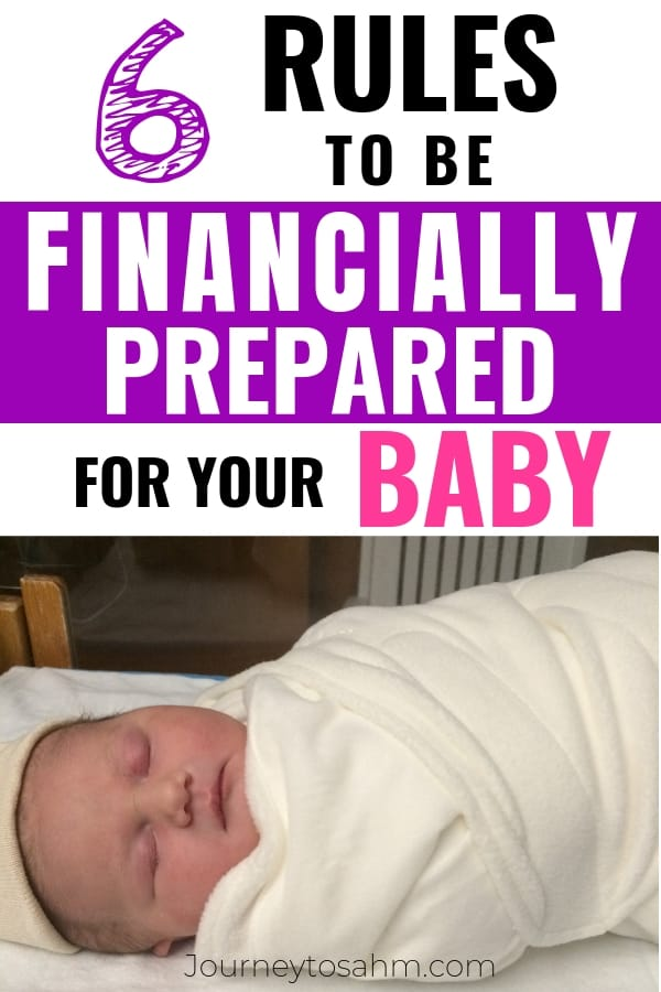 Simple ways to save money for a new baby on a tight budget and be financially prepared for a newborn. Here are some awesome frugal money tips and things to do for families before you have a baby on a budget. #newbornbaby #financialplanning #pregnancy #newmom