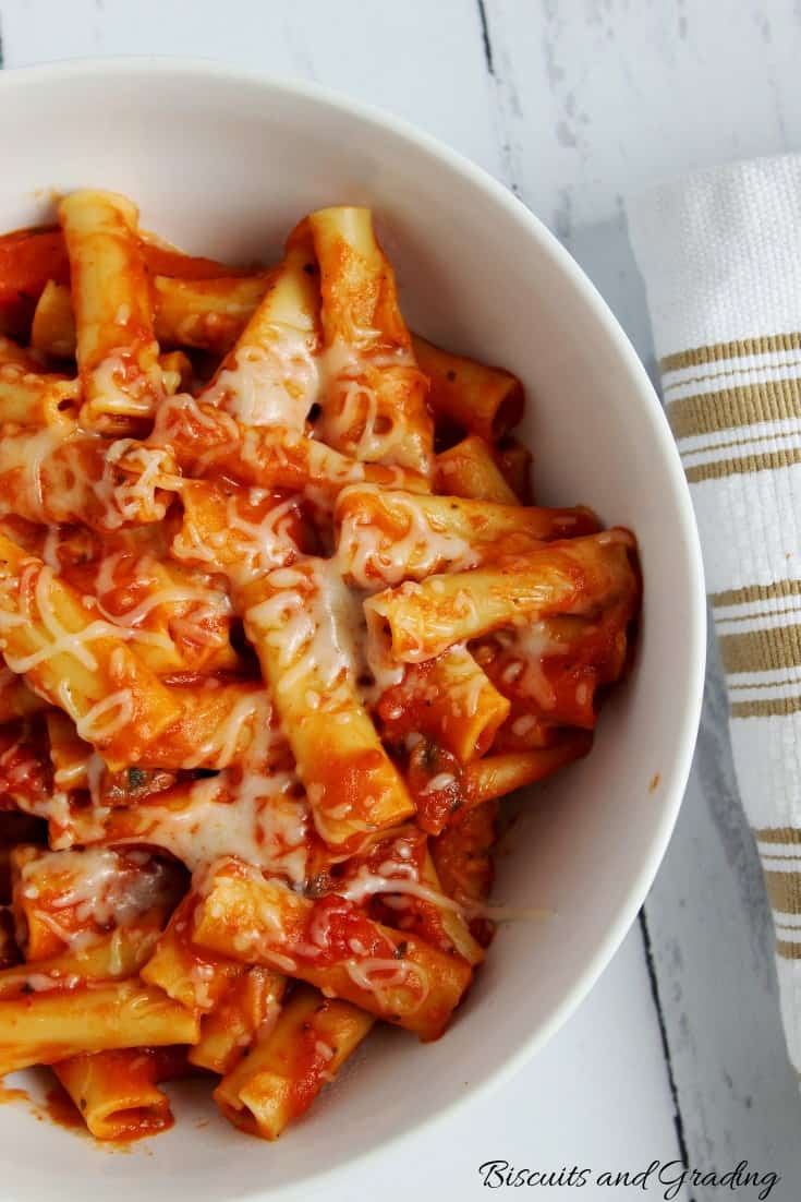 Easy Instant Pot Vegetarian Baked Ziti