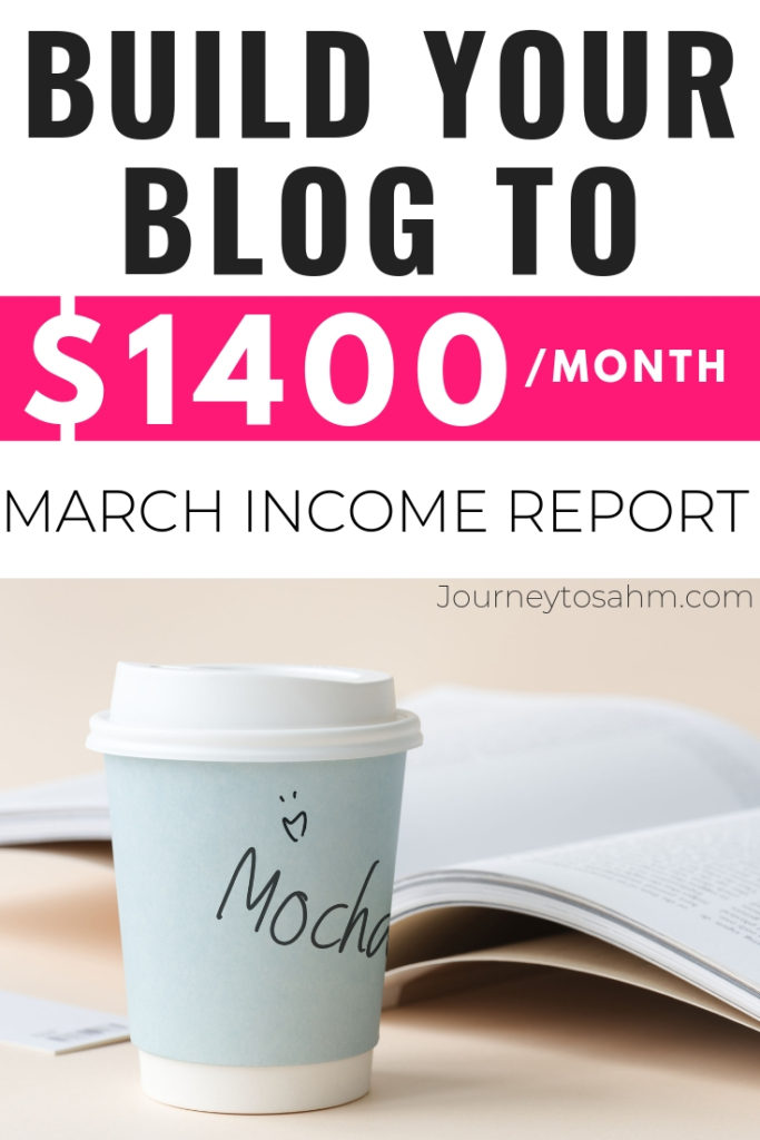 March Income Report to Work Smarter