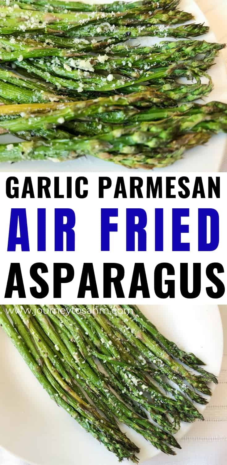 Garlic Parmesan air fried asparagus