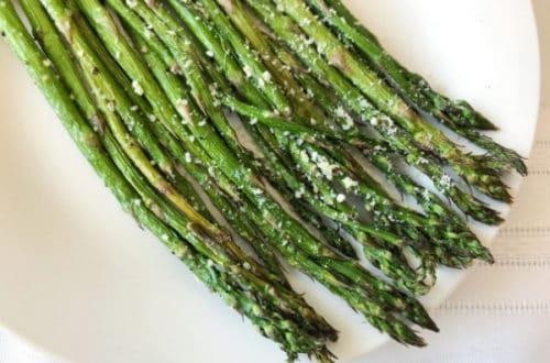 Delicious Garlic Parmesan Air Fried Asparagus Side Dish