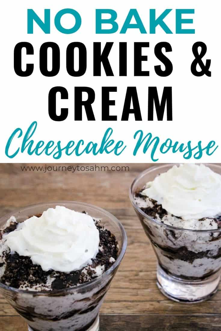 No bake Cookies and Cream Cheesecake Mousse
