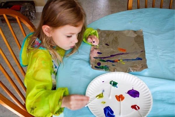 Foil Painting Sensory Art for Preschoolers