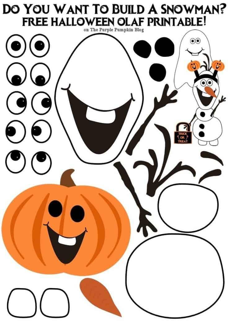 Do You Want To Build An Olaf? Halloween Edition!