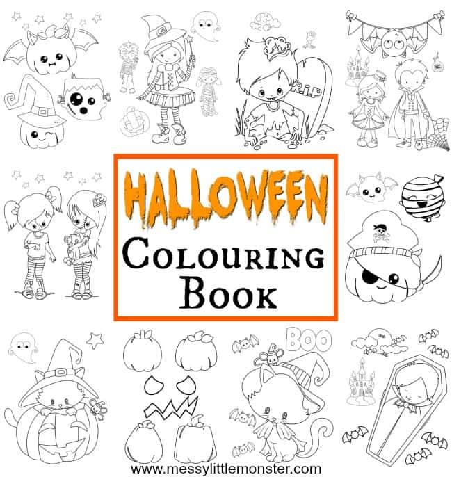 Halloween Colouring Pages for kids