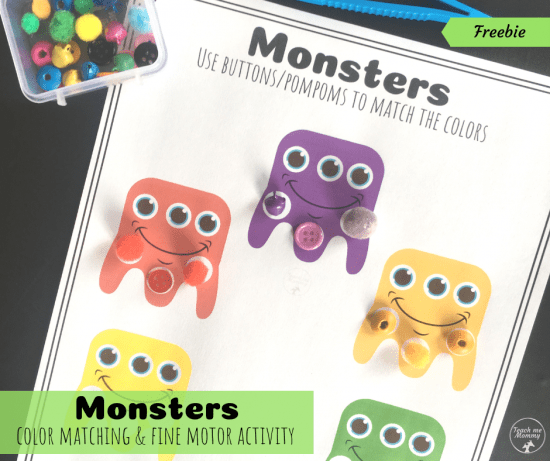 Monsters Color Matching