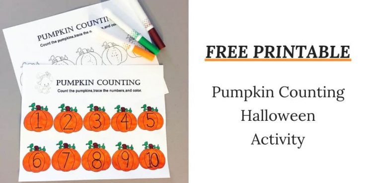 Counting Pumpkins Printable: A fun Halloween activity for toddlers & preschoolers