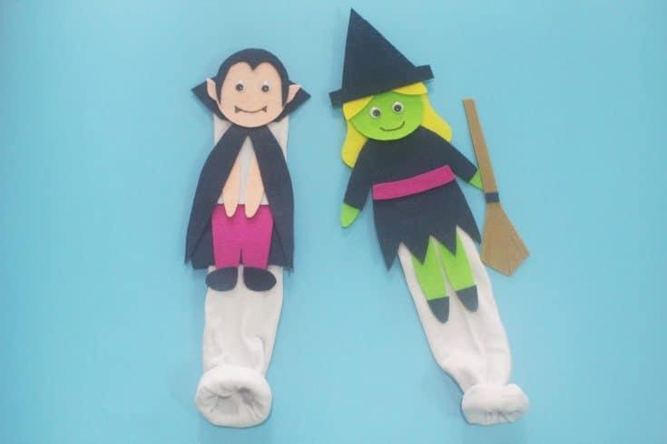Halloween Hand Puppets - DIY Templates