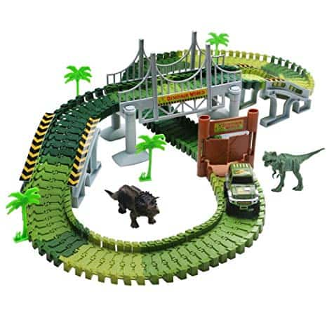 Race Track Dinosaur World Bridge Playset