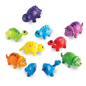 Learning Resources Snap-n-Learn Matching Dinos Sorting Colors Toy