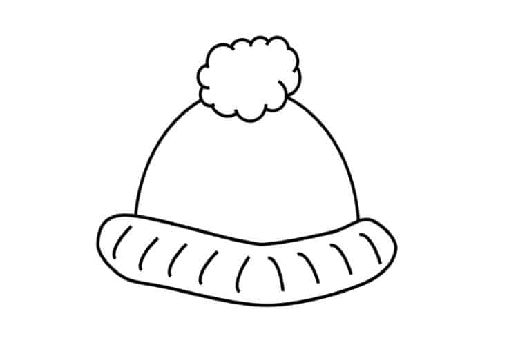 winter hat template