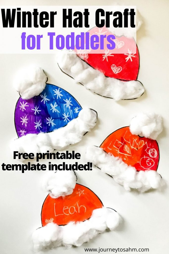 winter hat craft for toddlers
