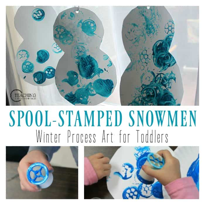 Easy Winter Snowman Art for Toddlers