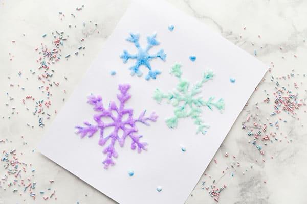 Salt Painting Process Watercolor Art for Kids